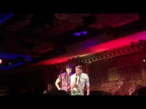 Nick Adams & Jason Michael Snow  Gaston Beauty & the Beast @54 Below Broadway Villians Party