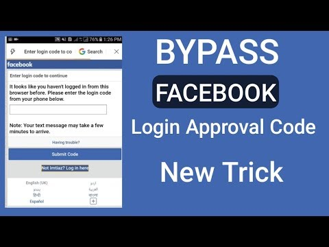 How to bypass facebook login approval code - YouTube