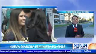 Feministas chilenas convocan a marcha nacional contra el acoso sexual