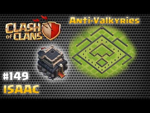 Town Hall 9 Anti-Valkyrie Defense Layout 149 (Isaac)