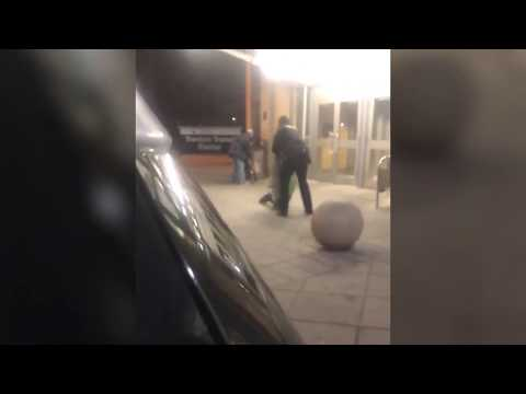 NJ Transit police officer drags and throws man to ground