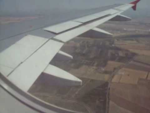 WIND JET A319 LANDING AT CATANIA RWY 08