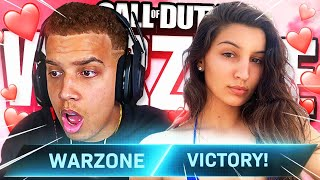 WARZONE DUOS WITH MY NEW GIRLFRIEND!