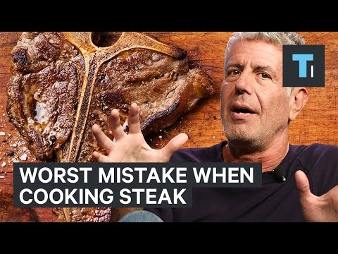 Thumbnail: Anthony Bourdain on the worst mistake when cooking steak