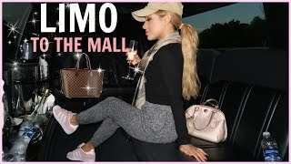 I took a limo to the mall!
