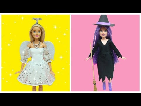 Doll Halloween Costume Tutorial / DIY Barbie Clothes for Dolls
