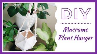 Easy DIY Macrame Plant Hanger💫🌿|| Beginner Tutorial || Kreatyve Laydiiee