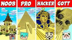 Minecraft NOOB vs. PRO vs. HACKER vs. GOTT: WÜSTEN LEBEN PYRAMIDEN in Minecraft