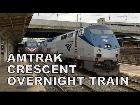 Amtrak Crescent #20 Overnight Train Experience!
