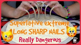 BEST EVER ASMR VIDEO with DANGEROUS LONG SHARP NAILS SCRATCH A DISH with SAND! INCREDIBLE TRIGGERS!