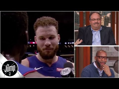 blake-griffin's-prickly-postgame-interview-interrupted-by-an-oblivious-reggie-jackson-|-the-jump
