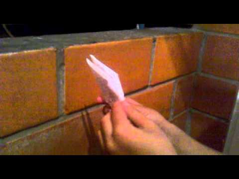 Como hacer una paloma de papel youtube for Como hacer una banqueta tapizada