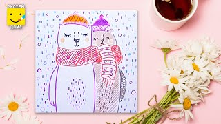 Рисуем мишек - урок рисования для детей от 4 лет, как нарисовать фломастерами поэтапно