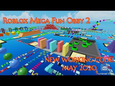 Roblox Mega Fun Obby 2 New Working Code June 2020 Youtube