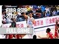 Philippines v Lebanon - Quarter-Final - Full Game - 2015 FIBA Asia Championship