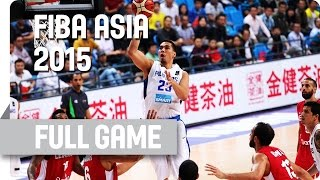 Philippines v Lebanon - Quarter-Final - Full Game - 2015 FIBA Asia Championship