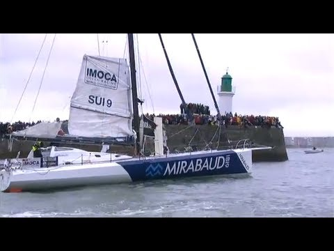 Dock off from the pontoon - Vendée Globe 2012 2013