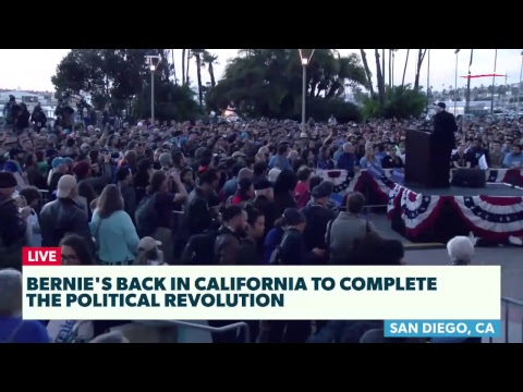 Bernie Rallies Supporters in San Diego