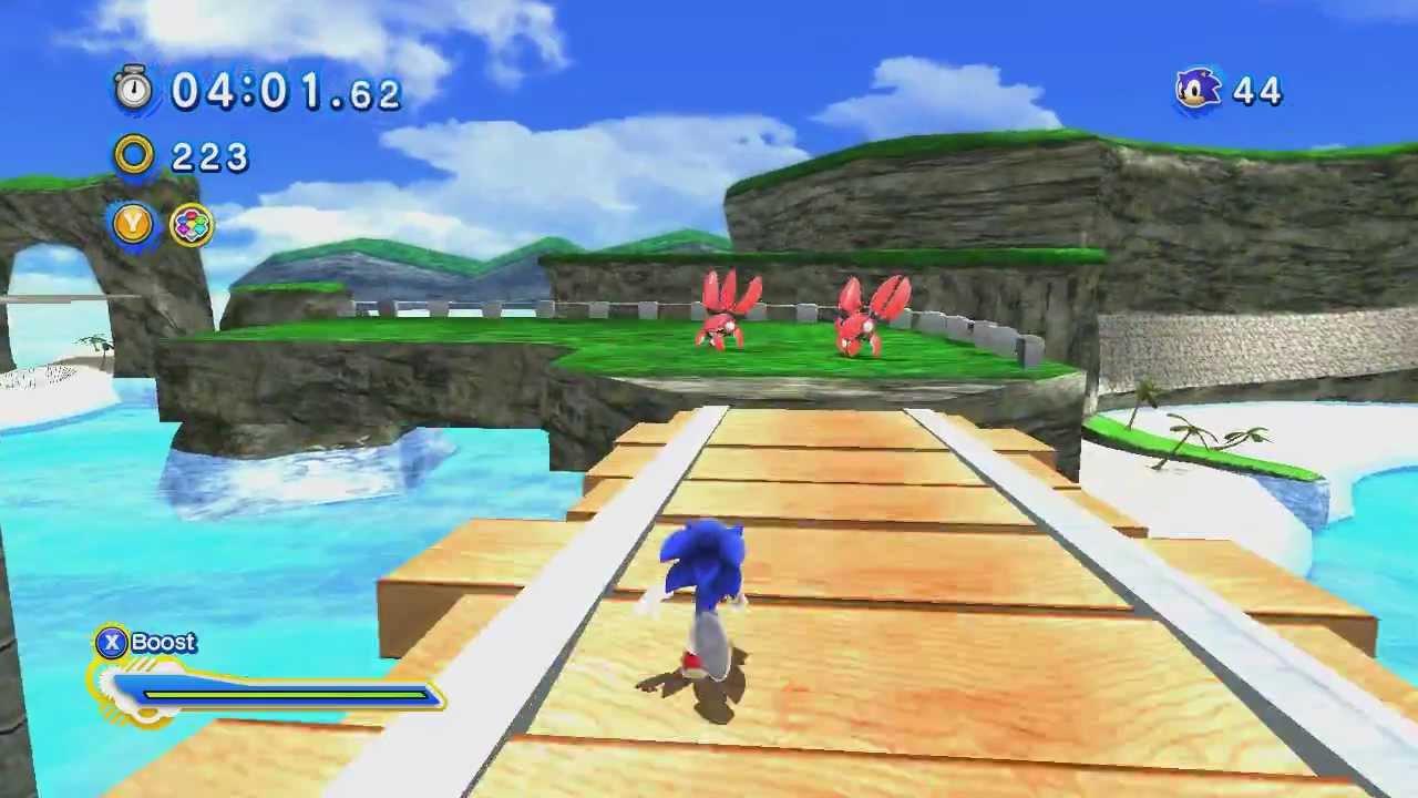 Sonic Generations - Emerald Coast - Walkthrough - YouTube