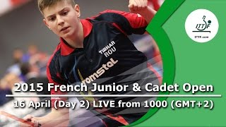 2015 French Junior & Cadet Open – Day 2 LIVE
