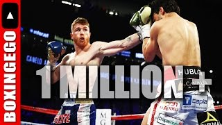 (KILLER!!!) ERM: CANELO VS CHAVEZ JR DID OVER 1 MILLION (1M) PPV BUYS BEST #S IN AWHILE