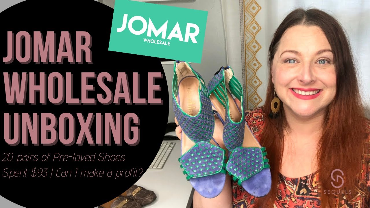 Jomar Unboxing   20 Pairs Women's Pre-Loved Shoes   Reseller Sourcing for Poshmark eBay & Etsy