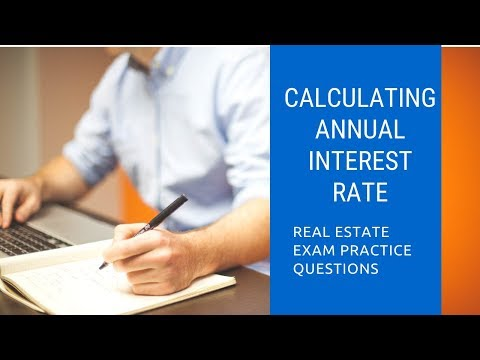 calculating-annual-interest-rate- -real-estate-exam-math- -prepagent