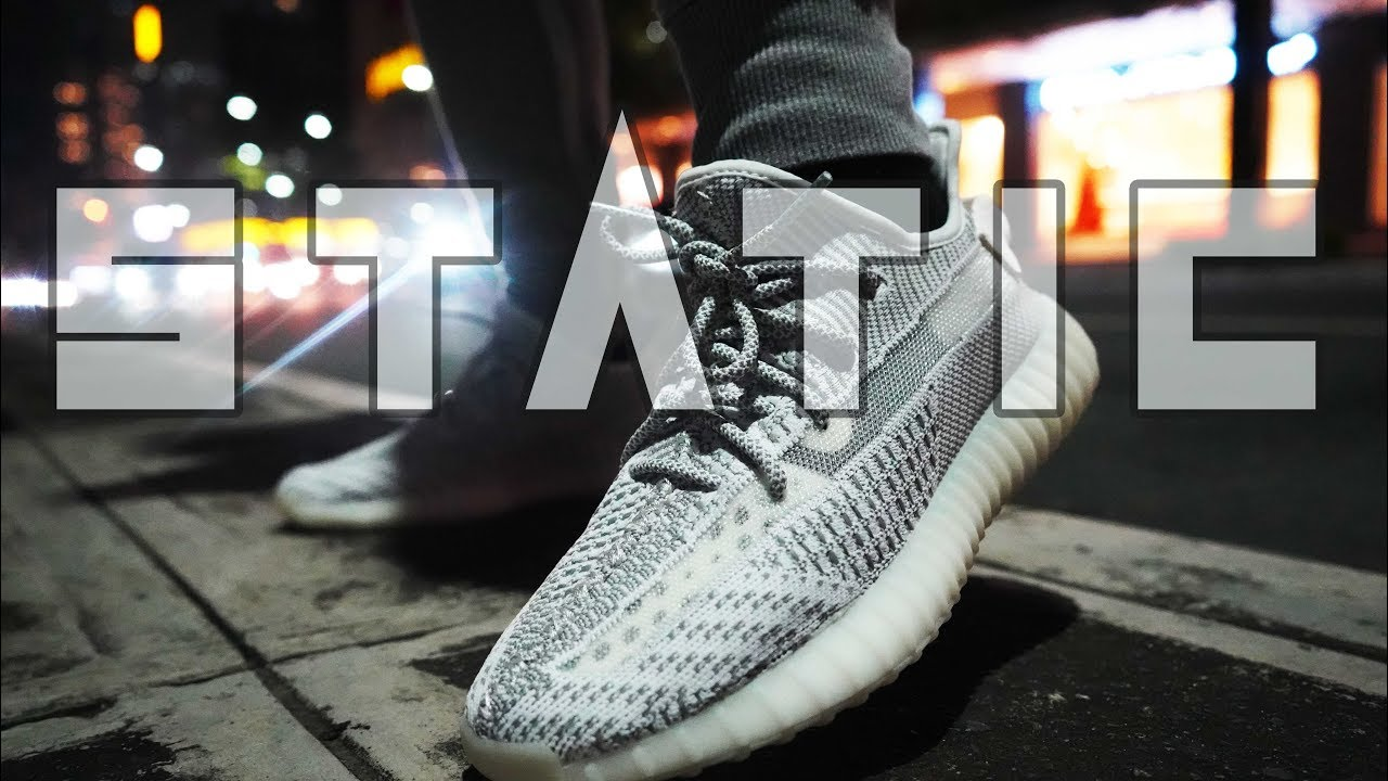 6465736932c43 YEEZY 350 V2 STATIC Sizing and On Feet Review - YouTube