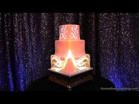 wedding cake projection mapping by karma event lighting youtube. Black Bedroom Furniture Sets. Home Design Ideas