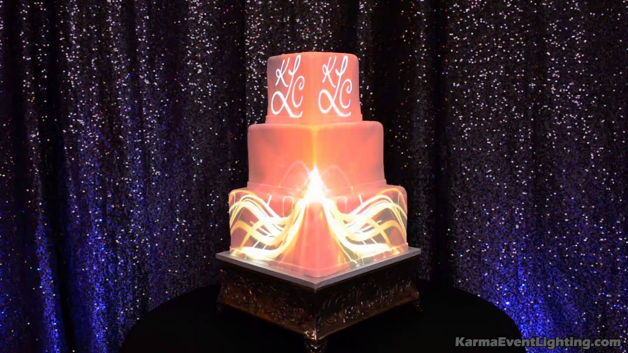 wedding cakes with led lights wedding cake projection mapping by karma event lighting 26053