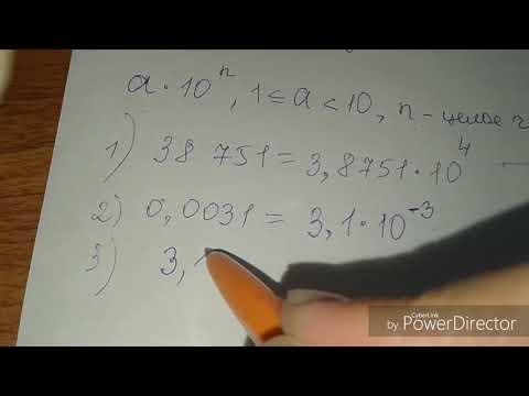 Как определить порядок числа