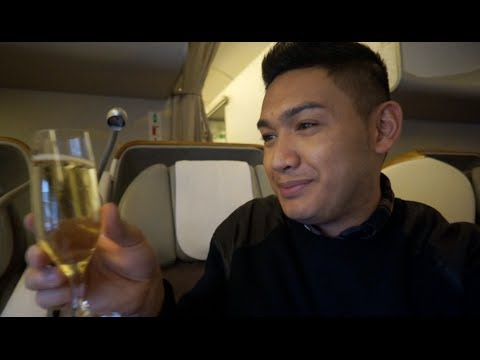SEATTLE TO DUBAI ON EMIRATES BOEING-777 BUSINESS CLASS - Dubai 2014 (Day 1) - ohitsROME vlogs