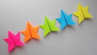 Paper garland Гирлянда из бумаги. Оригами поделка на Новый Год 2018
