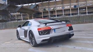 Audi R8 V10 Plus Akrapovic - Exhaust Sound Acceleration