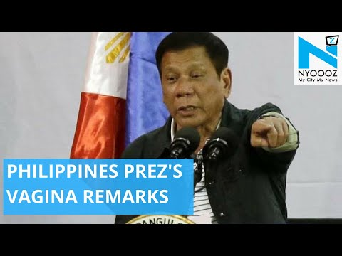 Philippines President's Dirty Remark Triggers Controversy | NYOOOZ TV