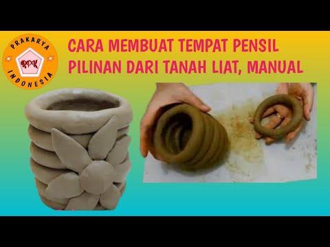tutorial-tanah-liat-alami-i-prakarya//tempat-pensil