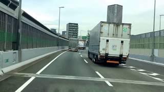 阪神高速 神戸から大阪へ湾岸線を走る NO.2!トラックからの景色をご覧ください。