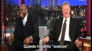 Magic Johnson & Larry Bird ospiti al Late Show di Letterman sub ita, parte uno