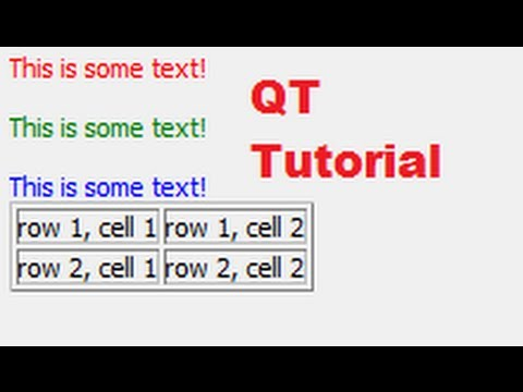 QT C++ GUI Tutorial 6- How to use HTML QT Widgets