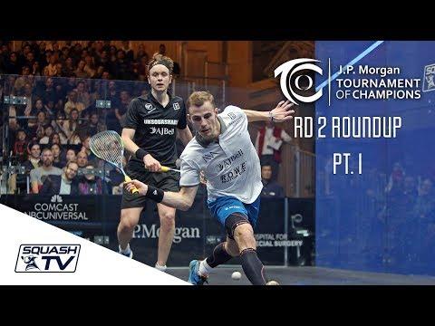 Squash: Tournament of Champions 2018 - Men\'s Rd 2 Roundup [Pt.1]