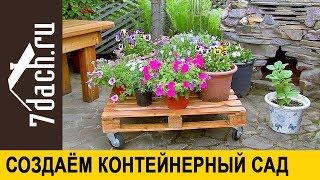 💐 Как создать контейнерный сад - 7 дач