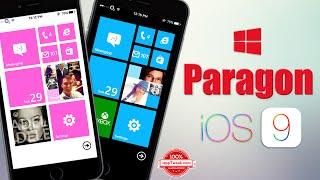 Paragon tweak brings Windows Phone 8 UI to your iOS 9 device