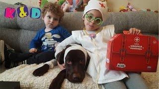 Вызов врача на дом Лечим лабрадора Йоши Doctor House Call Treat Labrador Yoshi