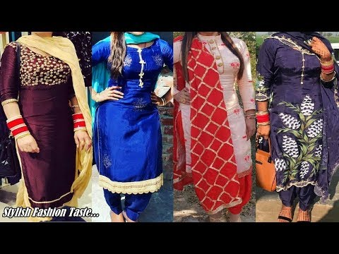 Latest Stitching Punjabi Suit Design Idea - Latest Suit Design - Punjabi Salwar Suit Design