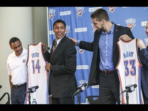 McGary, Huestis introduced to OKC