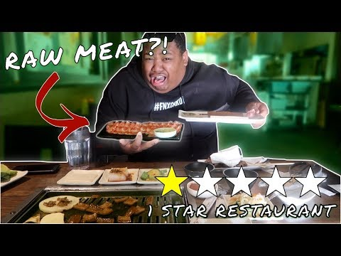 EATING AT THE WORST REVIEWED KOREAN RESTAURANT  IN LA ( RANT AT THE END)