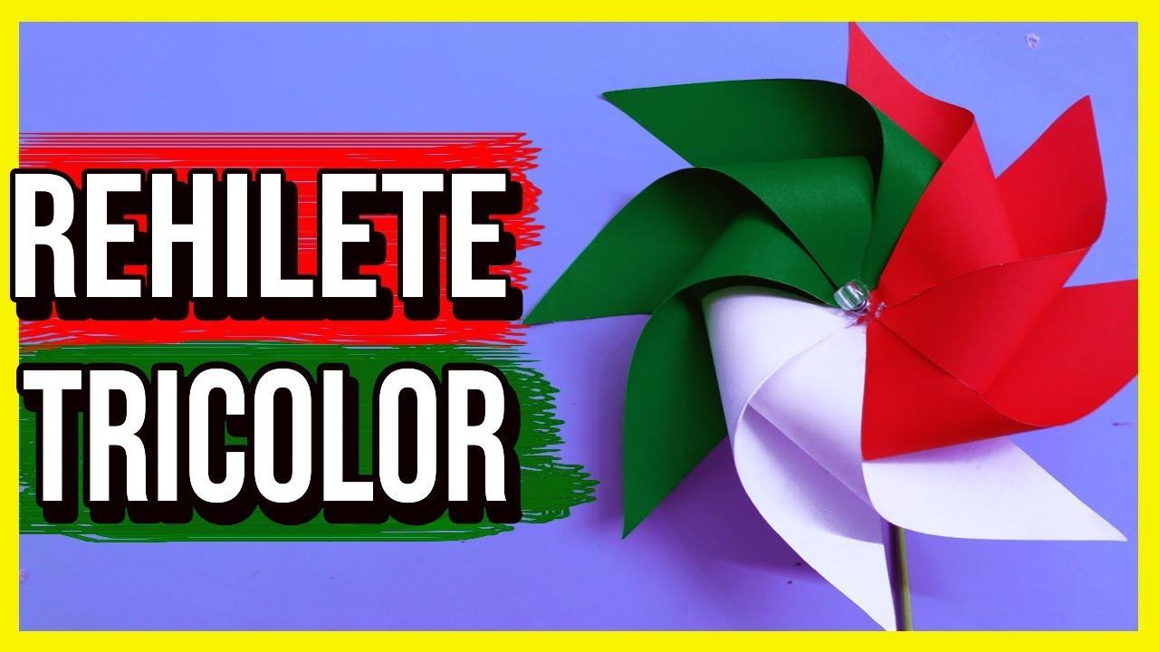 Como Hacer Un Rehilete De Papel Tricolor Fiestas Patrias Hauntermake