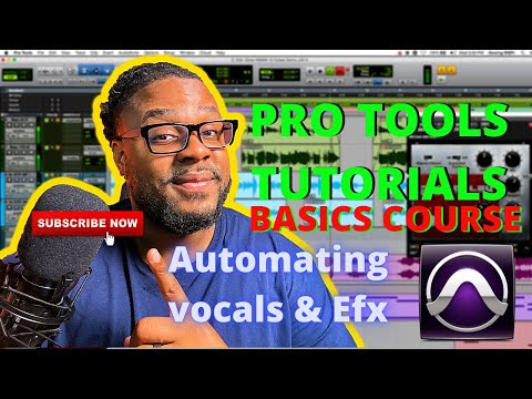 First time using Pro Tools: Automating vocals and effects