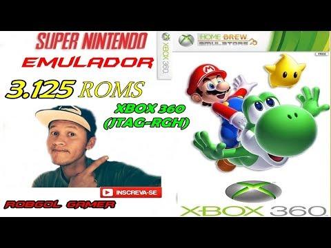 EMULADOR DE SUPER NINTENDO PARA XBOX 360 RGH + DE 3.125 ROMS