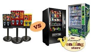 Gumball vs Full Size Vending Machines | Vending Machine Business